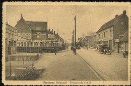 Herseaux Terminus Du Tram B 1945 Aimé Delcroix Leloup Douanes - Belgique