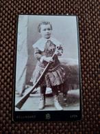 CDV Garçonnet Avec Fusil - Photo Bellingard, Lyon - Circa 1880/90 - TBE - Photographs