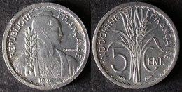 INDOCHINE Très Rare Et étrangement Peu Coté 5 Cent 1946  PORT OFFERT - Cambodge
