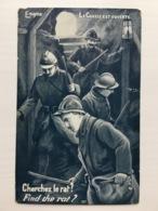 Ak Cherchez Le Rat La Find The Rat Chasse Est Ouverte Enigma Edition Sid Paris - Guerre 1914-18