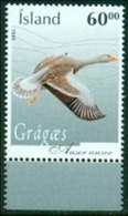 "-Iceland-2005-""Anser Goose"" M.N.H. (**) - Unused Stamps"