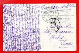 Cachet Hôpital Auxiliaire 28. Comité De Vire. 3è Région Militaire. Société De Secours Aux Blessés Militaires. Vire 1915 - Storia Postale