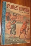 Livre - LES FABLES DE LA FONTAINE - Vers 1950 - Edition Touret - Illustrations / 12 - Poesia