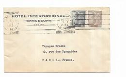 1955 Espagne Hotel Internacional Barcelona - Marcofilia - EMA ( Maquina De Huellas A Franquear)