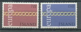 ISLANDIA -  YVERT  404/5 - EUROPA CEPT (#3034) - Nuevos