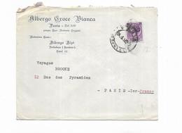 1955 ITALIE ALBERGO CROCE BIANCA PAVIA - Marcophilie - EMA (Empreintes Machines)