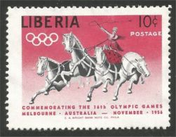 572 Liberia Cheval Chevaux Horses Pferde Cirque Circus Cirkus No Gum Sans Gomme (LBA-190) - Liberia
