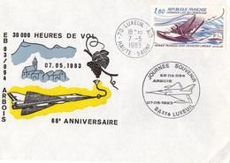 FRANCE Poste Aérienne 56 Escadrille Arbois EB 03.094 Mirage IV 30 000 Heures Vol LUXUEIL 1983 Aviation Militaire [GR] - Airplanes