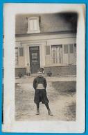 CPA CARTE PHOTO : Un Petit Zouave - Cachet Postal D'ANIZY-Le-CHÂTEAU (02 Aisne) ** Enfants - Autres Communes