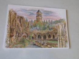 Orval ; Les Ruines Et L'Abbaye - Belgio