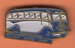 PIN'S AUTOCAR  FLASH AUTO CAR AUTOBUS - Trasporti