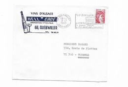 1980 VINS D'ALSACE GUEBWILLER - Postmark Collection (Covers)