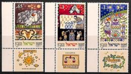 NB - [812351]TB//**/Mnh-Israël 1991 - N° 1142/44, Fêtes Religieuses, SC, Nouvel An, Avec Tabs - Neujahr
