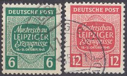 SASSONIA OCCIDENTALE - 1945 - Lotto Di Due Valori Usati: Yvert 5 E 6, Come Da Immagine. - Sowjetische Zone (SBZ)