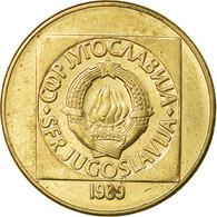 Monnaie, Yougoslavie, 100 Dinara, 1989, TTB, Laiton, KM:134 - Joegoslavië