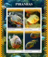 Sierra Leone 2019 Fauna  Piranhas ,fishes   S201911 - Sierra Leone (1961-...)
