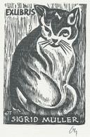 Ex Libris Sigrid Muller - Herbert Ott (1915-1987) Monogram - Ex-libris