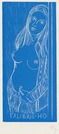 Ex Libris H.O. - Herbert Ott (1915-1987) Monogram - Ex-Libris