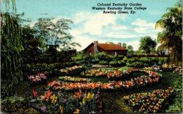Kentucky Bowling Green Colonial Kentucky Garden Western Kentucky State College 1959 Curteich - Bowling Green
