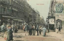 """CPA FRANCE 75020 """"Paris, Rue Ménilmontant, à La Hauteur De La Rue De La Mare"""" / Collection TOUT PARIS / COLORISÉE - Arrondissement: 20"""
