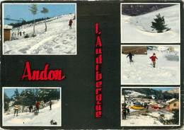 """/ CPSM FRANCE 06 """"Andon, L'Audibergue"""" / SKI - France"""