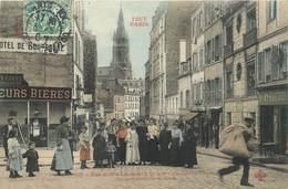 """CPA FRANCE 75020 """"Paris, Rue Julien Lacroix, Eglise Notre Dame De La Croix"""" / Collection TOUT PARIS / COLORISÉE - Arrondissement: 20"""