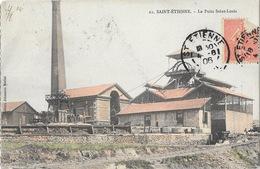 Mines - St Saint-Etienne - Le Puits Saint-Louis - Edition Johannès Merlat, Carte Colorisée N° 21 - Saint Etienne