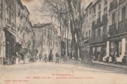 D5-66) CERET (LE ROUSSILLON - PYRENEES ORIENTALES) BOULEVARD SAINT ROCH ET LA  MAIRIE  - (ANIMEE - 2 SCANS) - Ceret