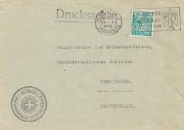 Bergbau: Brief Zürich, Drucksache 1938, Erdbebendienst Erdbebenstation Göttingen - Europe (Other)
