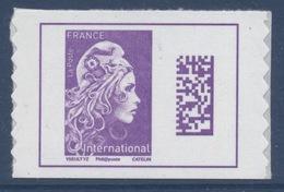 N° 1656 Marianne D'Yz Adhésif Année 2019 Faciale International Dos Violet Issu De Carnet - France