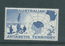 Australian Antarctic Territory 1957 2 Shilling Blue Map Single MNH - Australian Antarctic Territory (AAT)
