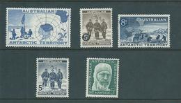 Australian Antarctic Territory 1957 - 1961 Pre-decimals Part Set Of 5 MNH - Australian Antarctic Territory (AAT)