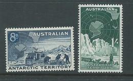 Australian Antarctic Territory 1959 8d Transport & 1/- Dog Team MLH - Australian Antarctic Territory (AAT)
