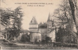C15-47) NOTRE DAME DE BON ENCONTRE (LOT ET GARONNE) CHATEAU DE ST MARCEL  - (2 SCANS) - Bon Encontre