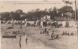 C16-33) ANDERNOS LES BAINS (BASSIN D'ARCACHON) UN COIN DE LA  PLAGE  - (2 SCANS) - Andernos-les-Bains