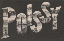 C17-78) POISSY - (CARTE ALPHABET MULTIVUES - 2 SCANS) - Poissy
