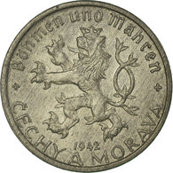 Monnaie, BOHEMIA & MORAVIA, 20 Haleru, 1942, TTB, Zinc, KM:2 - Tchéquie