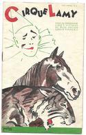 CIRQUE LAMY PROGRAMME OFFICIEL 1936 (publicités De L'Ariège, Foix, Pamiers, Etc...)  7 SCANS - Programmes