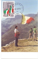ALAGNA RICORDO DI TERESA CLERICI ANNIVERSARIO DELLA SUA SCOMPARSA FDC   1992 MAXIMUM POST CARD (GENN200146) - Geografia