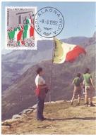 ALAGNA RICORDO DI TERESA CLERICI ANNIVERSARIO DELLA SUA SCOMPARSA FDC   1992 MAXIMUM POST CARD (GENN200148) - Geografia
