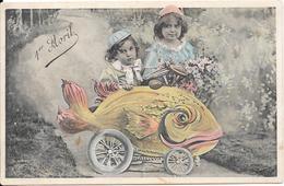 Superbe Cpa Début 1900 - 1er Avril - 1er Avril - Poisson D'avril