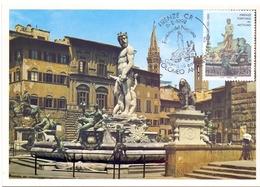 FIRENZE VASCA DEL NETTUNO AMMANNATI FDC   1992 MAXIMUM POST CARD (GENN200153) - Monumenti