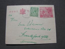 GB Karte 1924 Frankfurt - 1902-1951 (Kings)