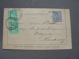 Kartenbrief Nach Pöseldorf 1893 - Entiers Postaux