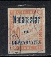 MADAGASCAR       N°  YVERT   TAXE 3    OBLITERE       ( Ob   2/29 ) - Madagascar (1889-1960)