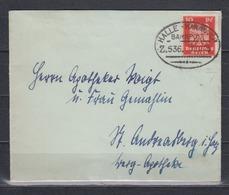 """Dt.Reich  Bahnpost-o """" Halle- Hannoiver/Z.536. 22.11.25 Briefchen Mit 357 Y (lgd.WZ) - Deutschland"""