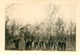 PHOTO ORIGINALE 39/45 WW2 WEHRMACHT SOLDATS ALLEMANDS 9 X 6.5 CM - Guerra, Militares
