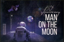 Malta (2019) - Block -  /  Espace - Space - Moon - Apollo - Astronaut - Asie