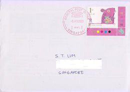 Singapore 2020 Rat Year Zodiac  On Cover GPO Postmark - Poste