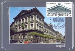 NAPOLI UNIVERSITA  E CORSO UMBERTO   FDC   1992 MAXIMUM POST CARD (GENN200166) - Monumenti